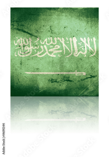 grunge flag of saudi arabia with shadow