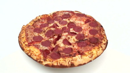 Pepperoni pizza high angle loop - HD
