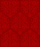 curled red symmetrical background poster