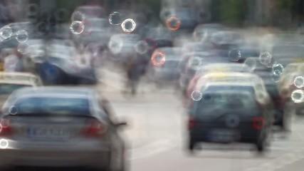 Berlin Verkehr Autos unscharf