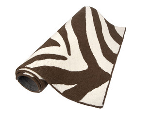 black and white zebra patterned rug, animal print