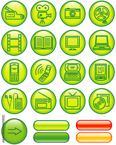 poster of Media - Vector Icons Set