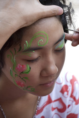 Painted face girl
