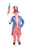 Uncle Sam with American Flag poster