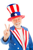 Uncle Sam - Peace Sign poster