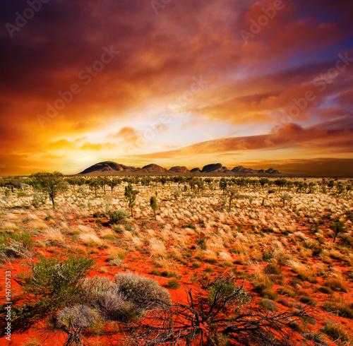 Leinwanddruck Bild Sunset Desert Beauty