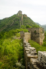 great wall of china, unrestored section