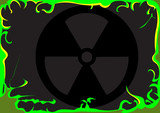 Toxic background image poster
