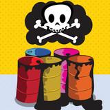 Toxic barrels poster