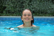 Smiling Teen in Swimming Pool