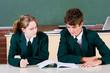 teens studying in classroom