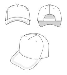 Outline cap vector illustration