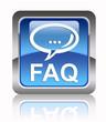 """""""FAQ"""" square glossy icon"""