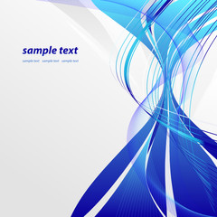 abstract vector wavy lines with copy space