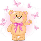 Very cute Teddy Bear waiving hello