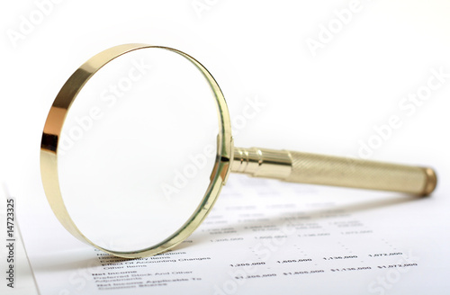 Statement with Magnifying Glass
