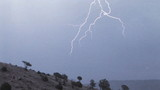 Lightning, slow motion poster