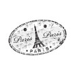 Paris oval rubber stamp