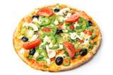 Fototapety pizza / white background
