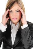 Businesswoman under stress poster