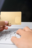 Using credit card for online transaction poster