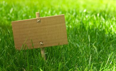 message vert - marketing écologique dans la nature