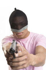 The robber with a pistol