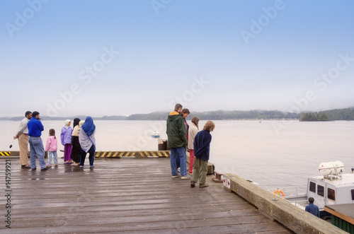 People of different Nationalities on Jetty