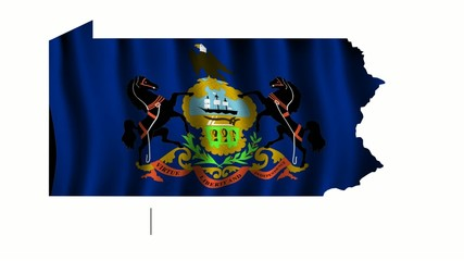 Pennsylvania Flag as the territory Map