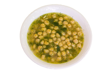 soup with chickpea