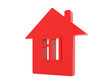 isolated house red icon on white background