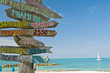 signpost on beach in key west florida - 14763784