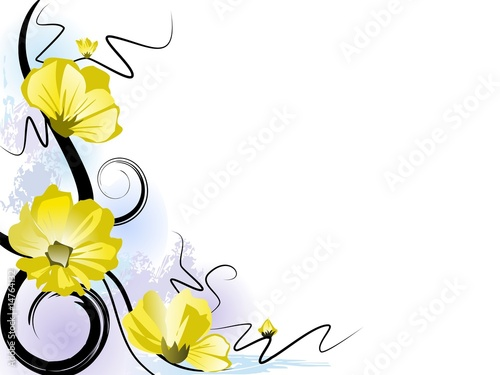 Summer blossom background