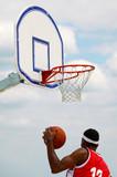 basket panier balle sport extension compétition équipe basketeur poster