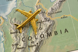 Plane Over Colombia South America poster