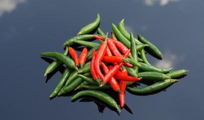 Hot pepper chillis