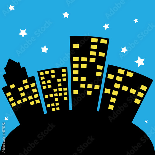 city skyline cartoon. City Skyline