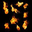 Leinwandbild Motiv flame samples, real photos