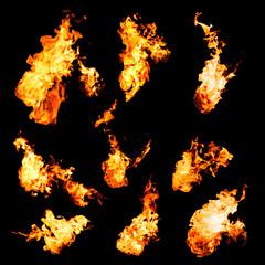 flame samples, real photos
