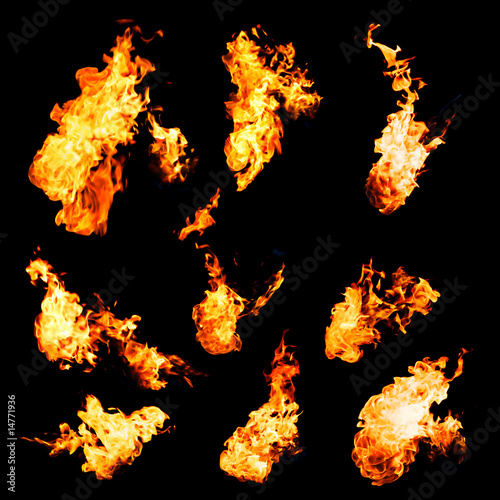 flame samples, real photos