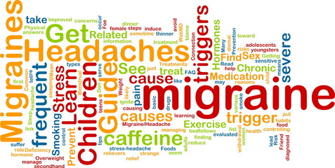 Migraine word cloud