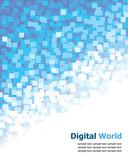 Digital (Blue Pixel) Background poster