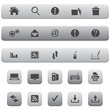Computer and Internet Icon Set. Silver Color.