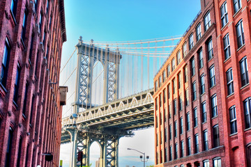 Manhattan Bridge in New York city.