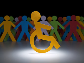 Disabled paper figure