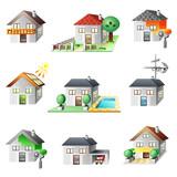 9 maisons illustrées