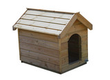 A Brand New Outdoors Wooden Dog Kennel. poster