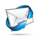 Fototapety Concept email courrier électronique