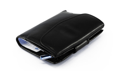 the leather wallet