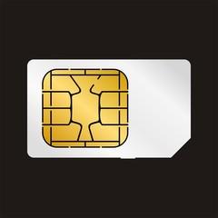 Sim Card White